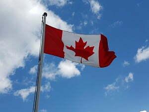 La bandiera del Canada
